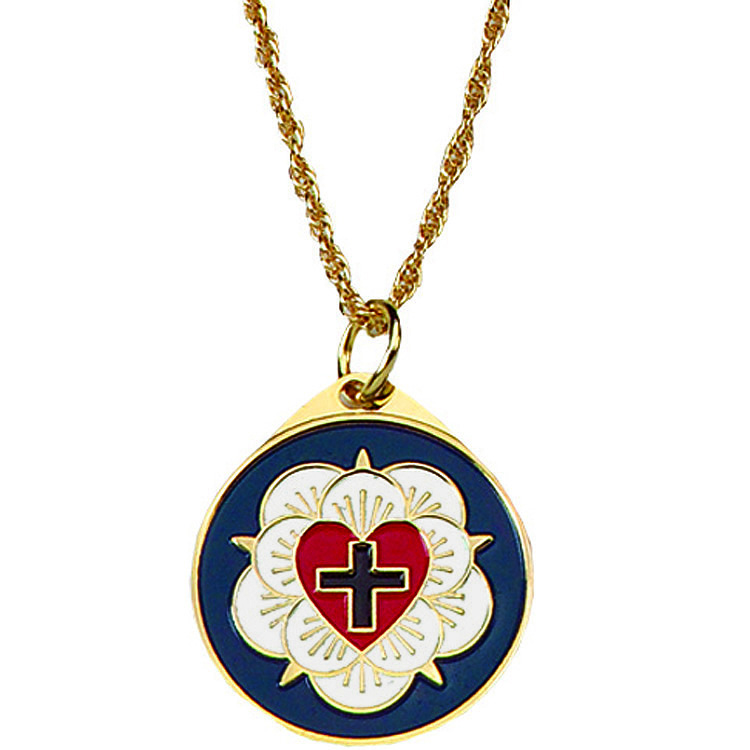 Luther rose pin terra sancta guild luther rose pendant aloadofball Image collections