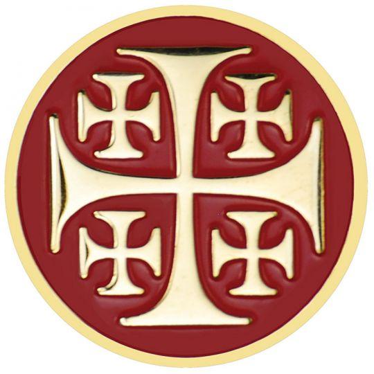 Jerusalem Cross Lapel Pin